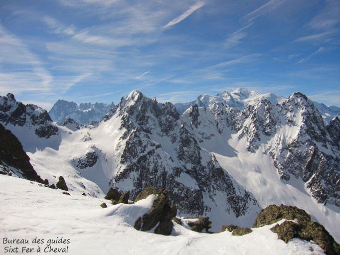 Vue vers le Mont Blanc.
