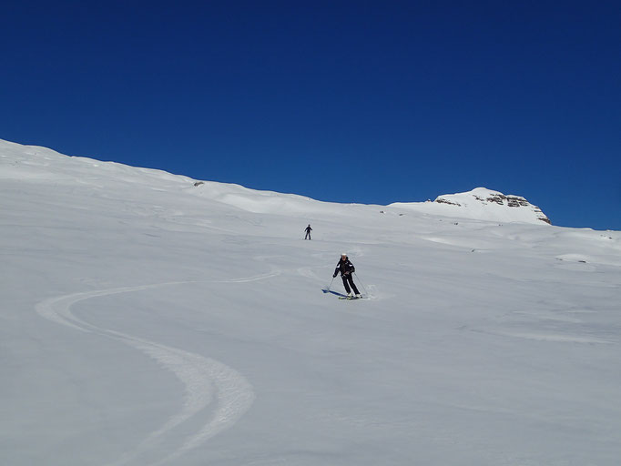 Beau et grand ski sur le Désert de Platé