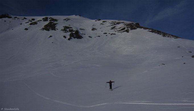 Une neige changeante mais skiable sur le haut.