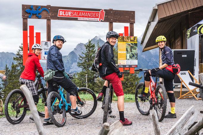 Geführte E-Bike-Touren präsentiert von der BikerSchool Flumserberg.