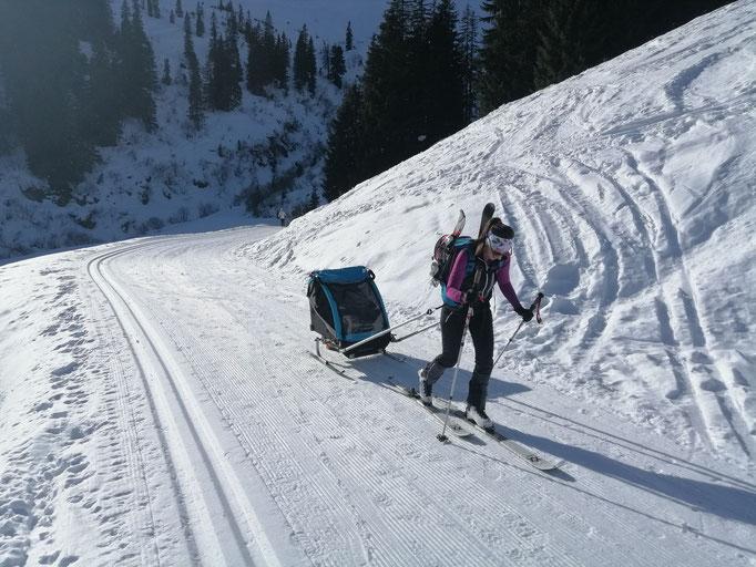 Burley Ski Kit auf Familientour