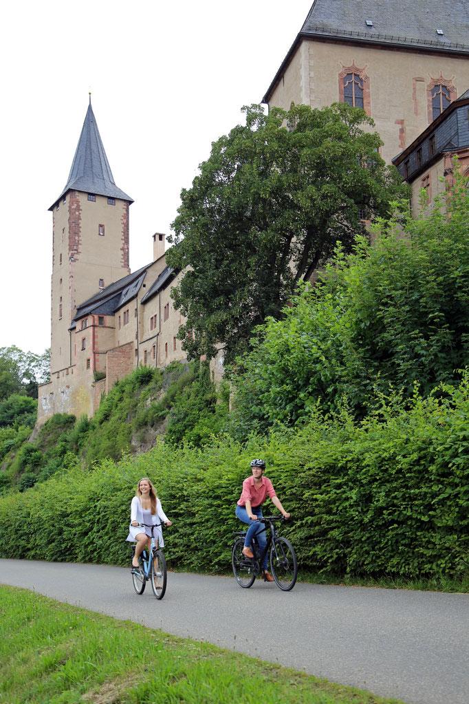 Schloss Rochlitz an der Zwickauer Mulde - Mulderadweg - Foto: Andreas Schmidt