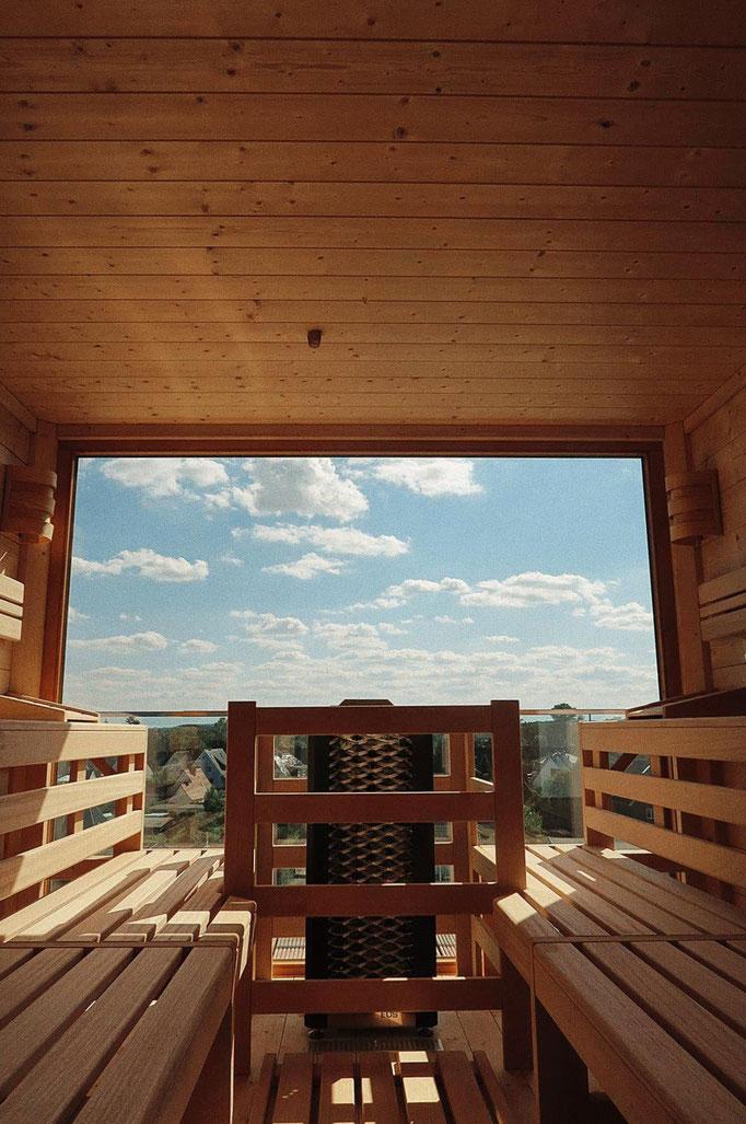Saunieren auf dem Dach des Lifestylehotels SAND  ©Leonie Eberhardt