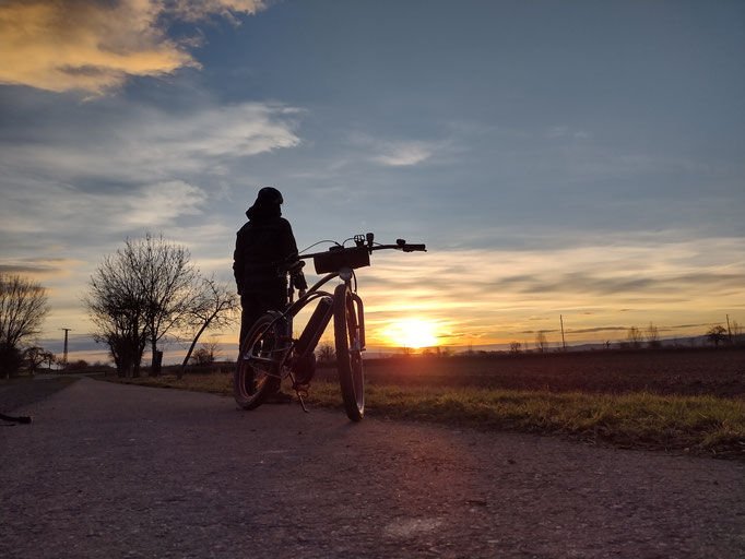 Sebastian Albert mit seinem Pendix-Rad