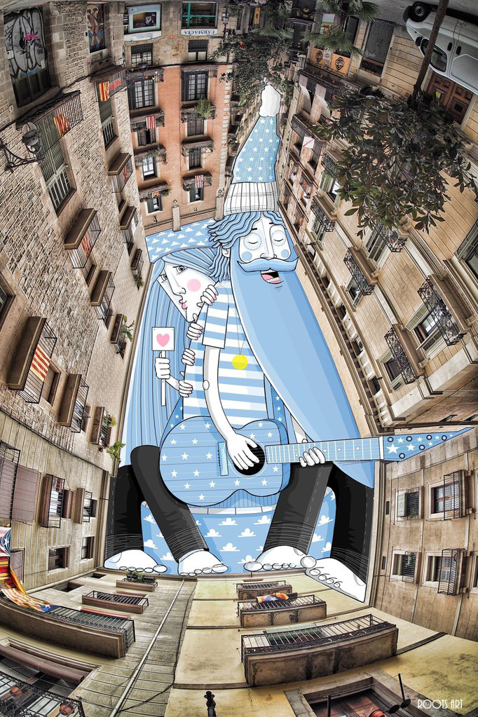 SkyArt Barcelone Espagne 2016