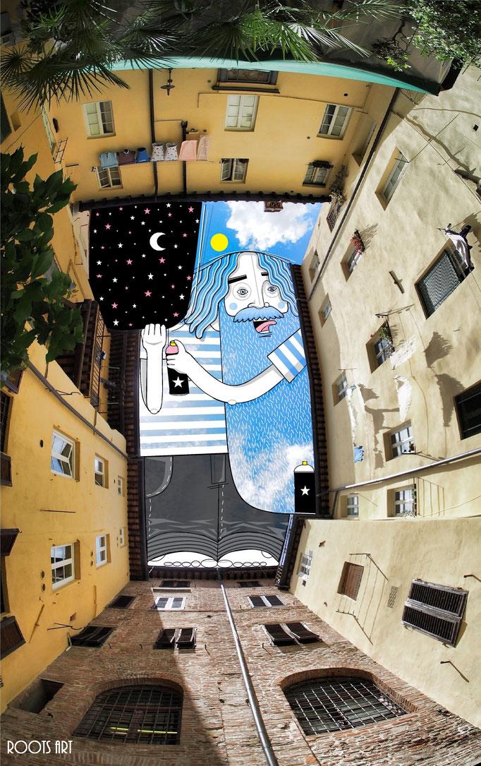 SkyArt Lucca Italie 2016