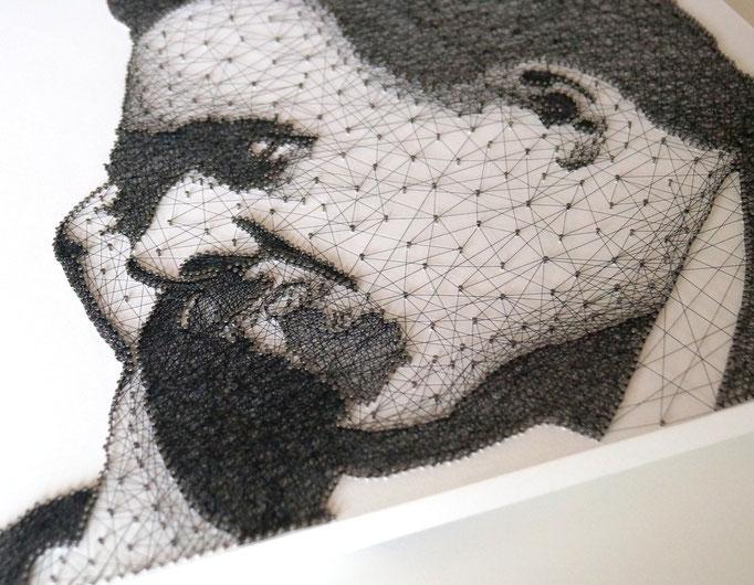 string art porträt nr. 21   -   44x55cm   -   available