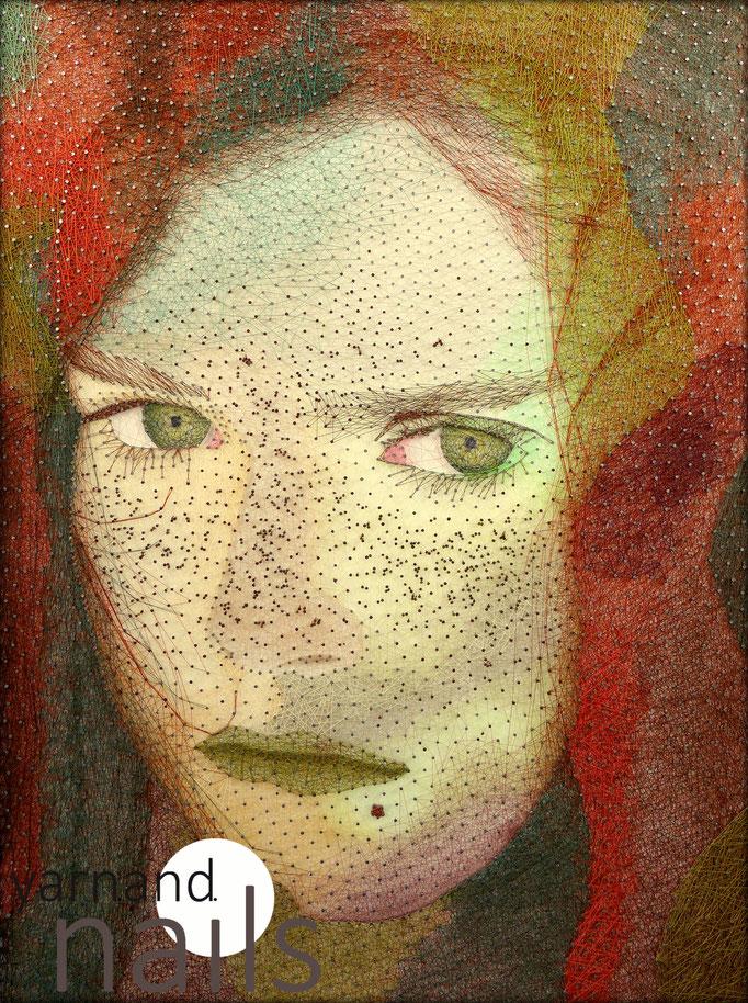 string art porträt nr. 45   -   55 x 75 cm   -   fall   -   available