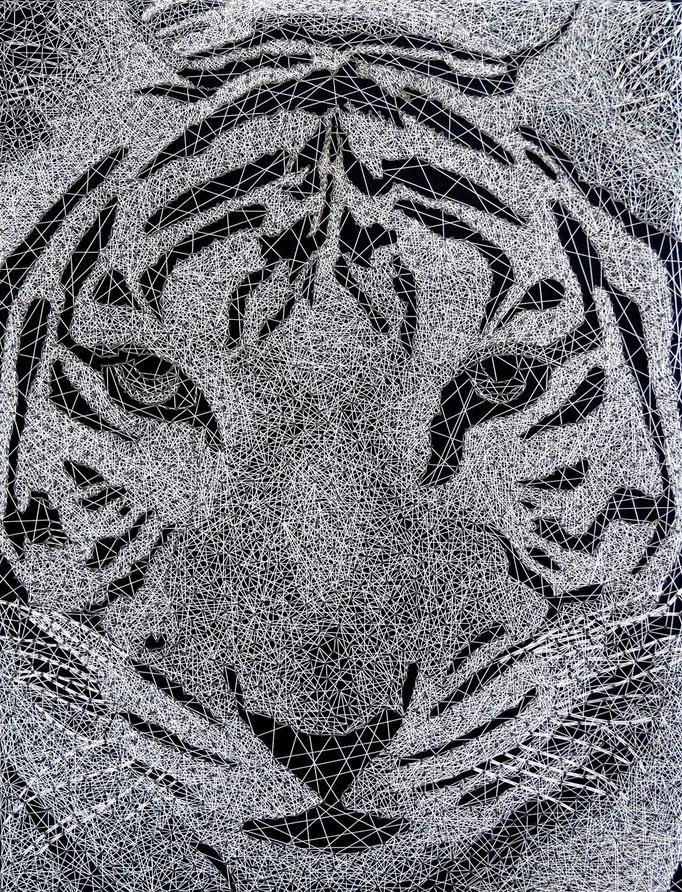 string art porträt nr. 31   -   47 x 61 cm   -   tiger   -   available