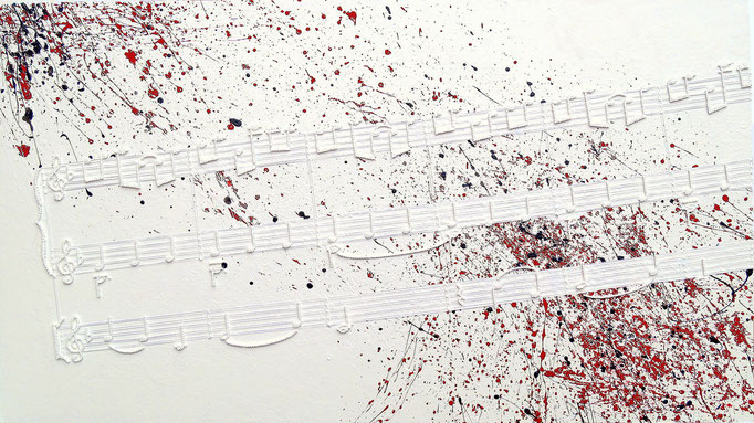 string art nr. 30   -   83 x 47 cm   -   scores of Ljósið