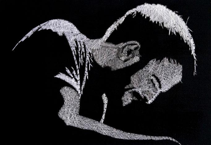 string art porträt nr. 17   -   67x46cm   -   not for sale