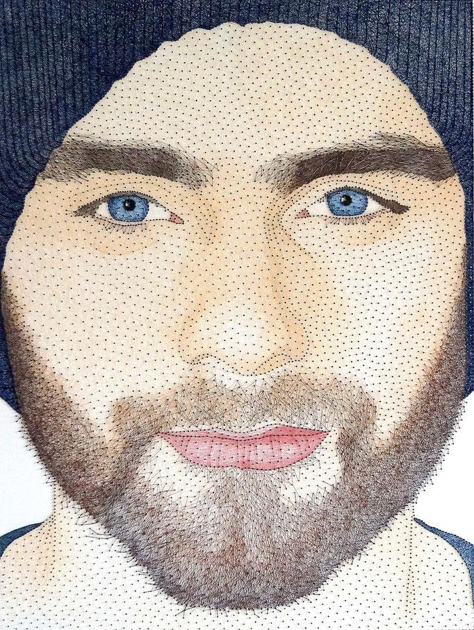 string art porträt nr. 32   -   75 x 100 cm   -   available