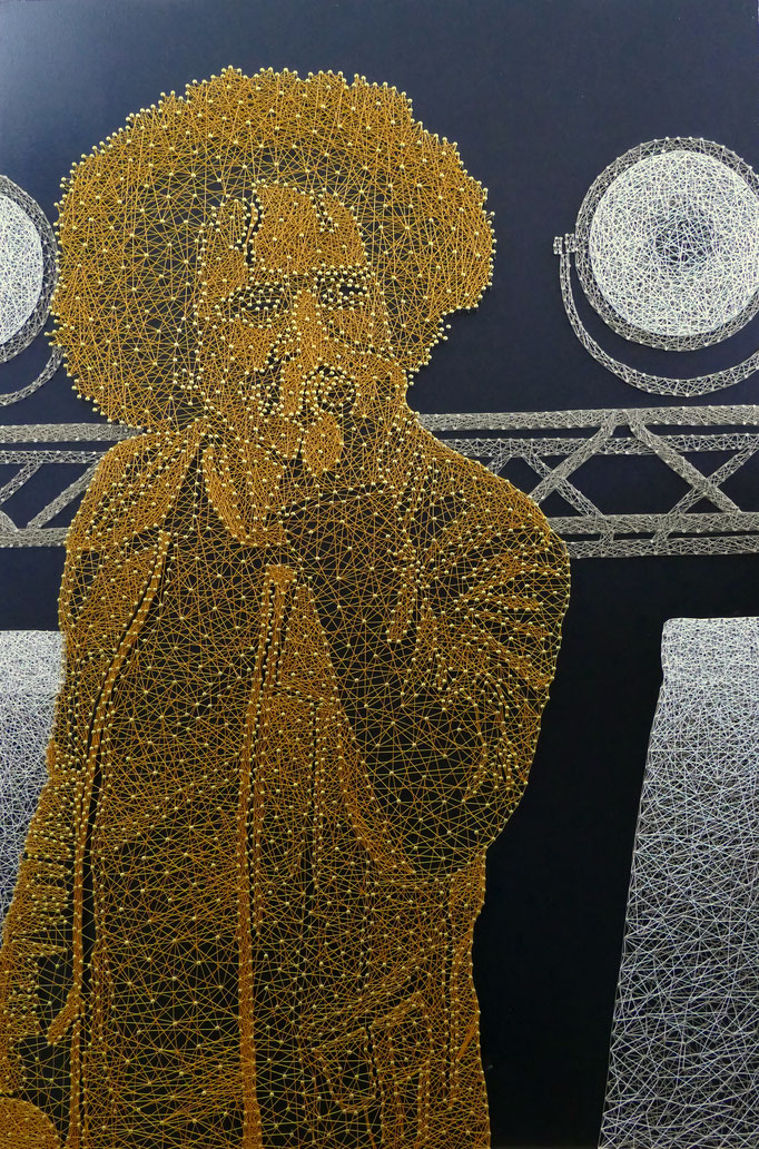 string art porträt   -   53 x 80 cm   -   william duvall  -   available