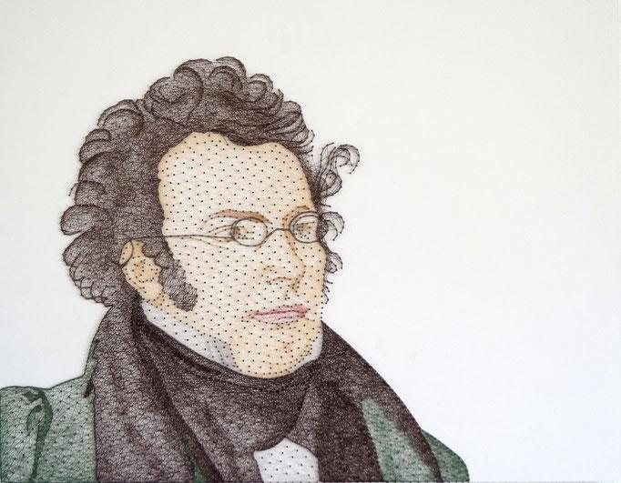 string art porträt nr. 43   -   87 x 61 cm   -   Franz Schubert   -   available