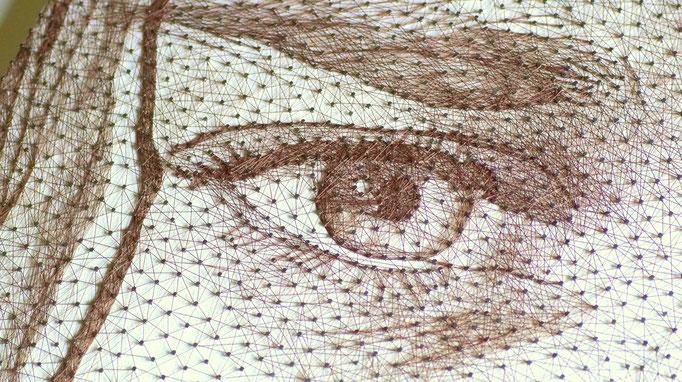 string art porträt nr. 42   -   106 x 47 cm   -   Kurt Cobain   -   available