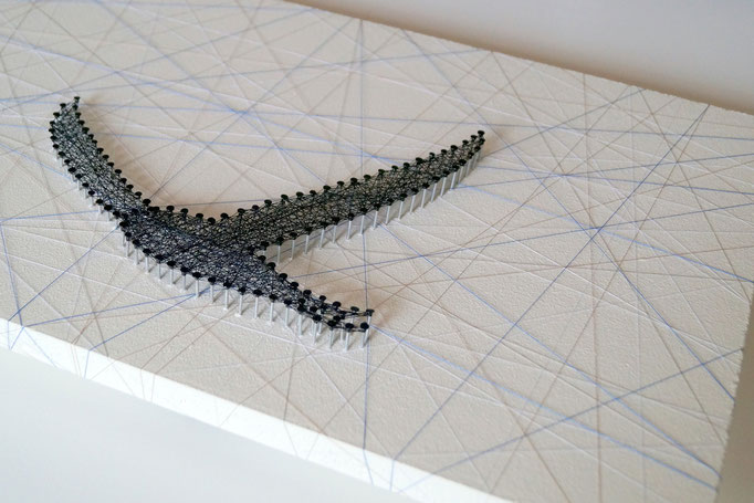 string art nr. 5   -   34x76cm   -   available