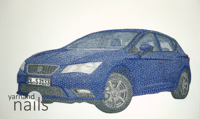 string art nr. 46   -   60 x 100 cm   -   seat leon   -   sold