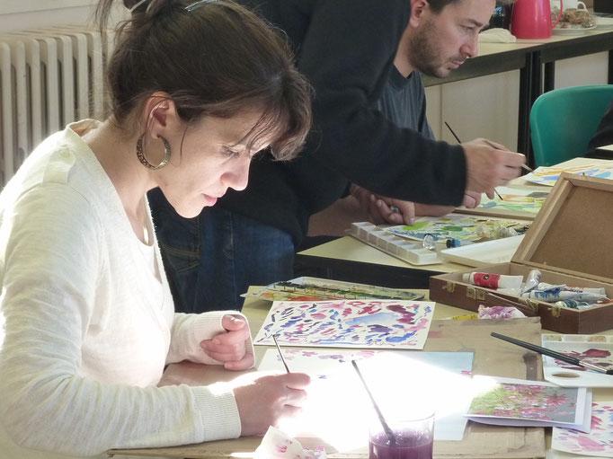 stages d'aquarelle de Cécile et Didier Georges