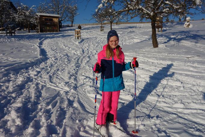 Schifahren am Biobauernhof Stadler