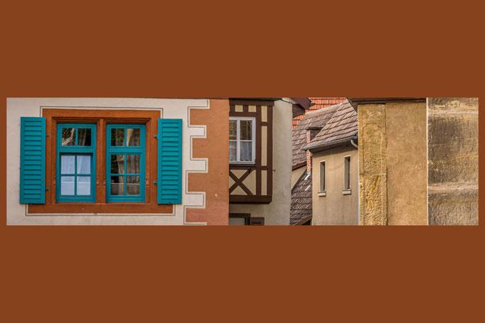 Eine (Fenster-)Ansicht der Stadt Seßla, der Perle des Coburger Landes