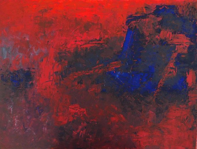 Johanna Schott // o. T. 13 // Acryl auf Leinwand // 50 x 70 cm // 2018