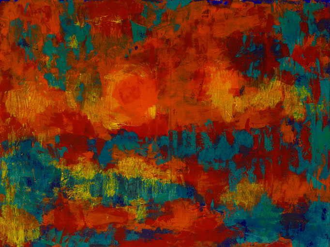Johanna Schott // Tropische Landschaft // Acryl auf Leinwand // 60 x 80 cm // 2015