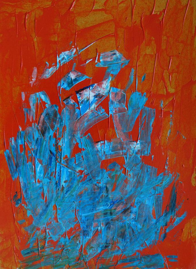 Johanna Schott // o. T. 6 // Acryl auf Pappe // 30 x 40 cm // 2019