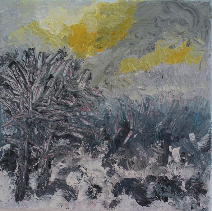 Johanna Schott // Winter // Acryl auf Leinwand // 20 x 20 cm // 2021