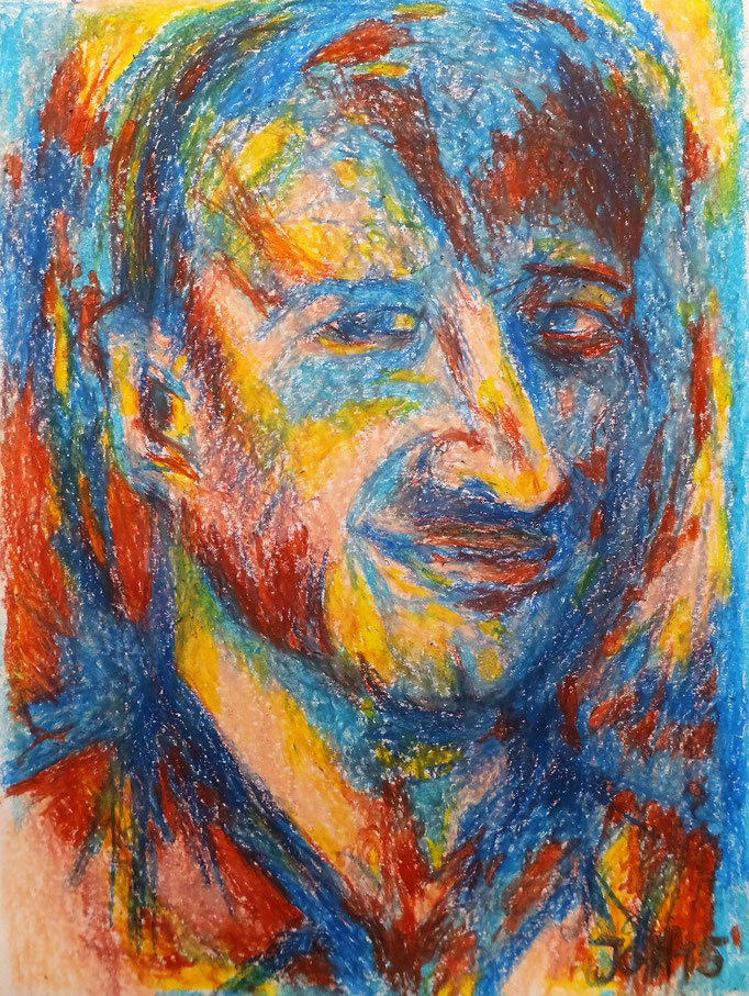 Johanna Schott // Jens // Ölkreiden, Rötel auf Papier // 29,7 x 42 cm // 2015