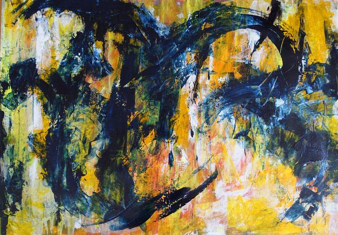 Johanna Schott // o.T. 6 // Acryl auf Papier // 57 x 81 cm // 2020