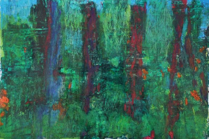 Johanna Schott // Baumstämme // Acryl auf Papier // 29,7 x 42 cm // 2020