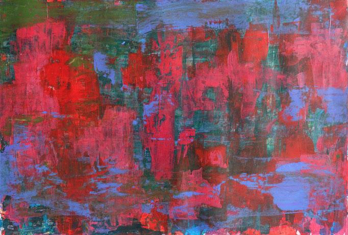 Johanna Schott // o.T. 11 // Acryl auf Papier // 39,5 x 58,5 cm // 2020