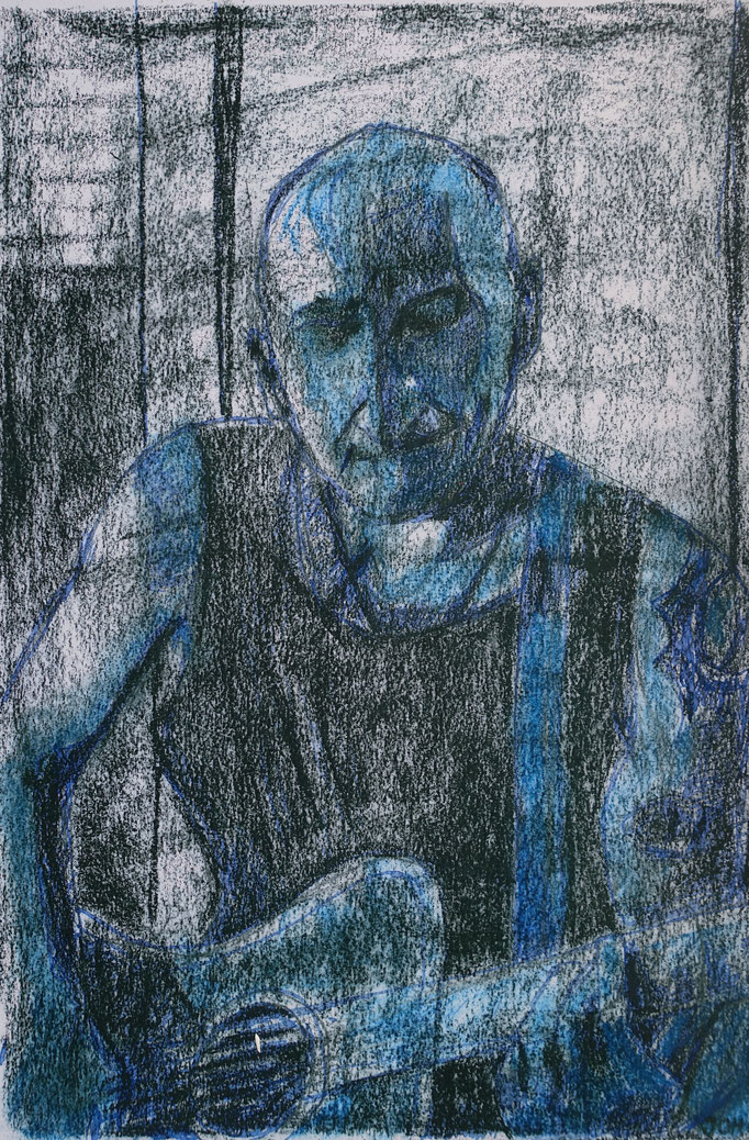 Johanna Schott // Porträt 2 // Mischtechnik auf Papier // 21 x 29,5 cm // 2011