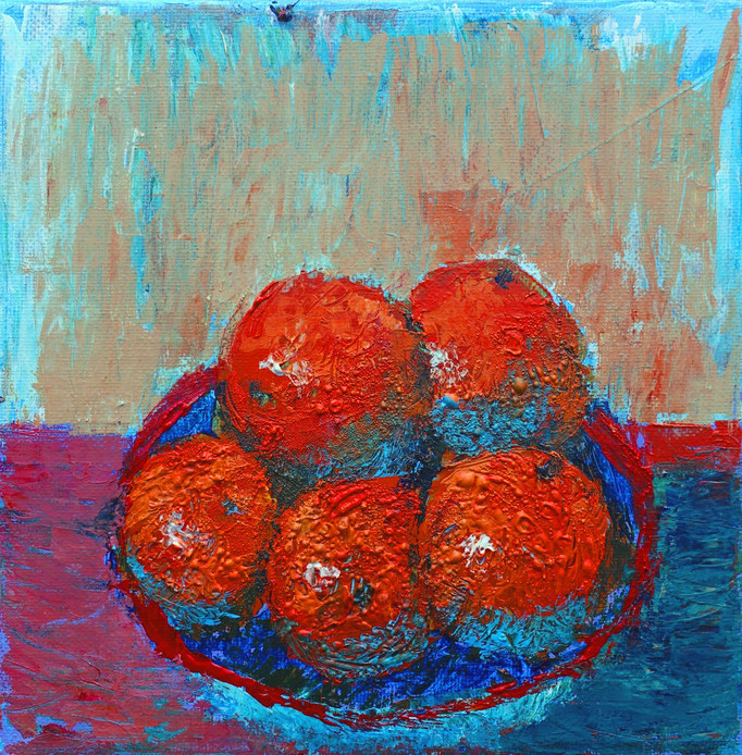 Johanna Schott // Orangen // Acryl auf Leinwand // 20 x 20 cm // 2019