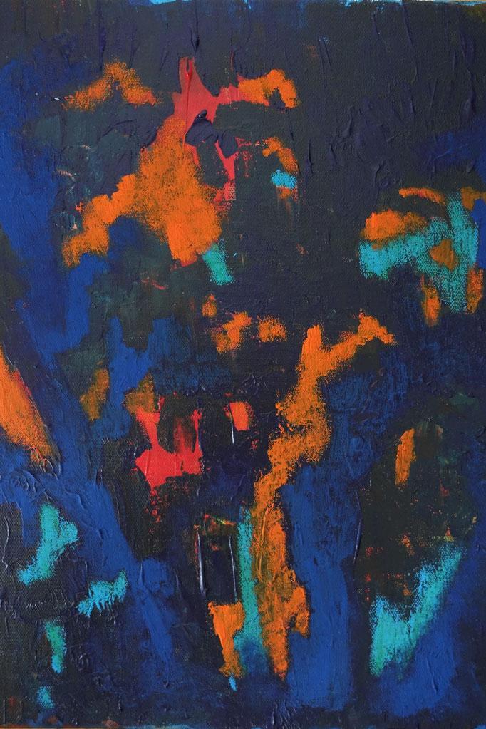 Johanna Schott // o.T.  21 // Acryl, Gouache auf Leinwand // 29,5 x 40 cm // 2020