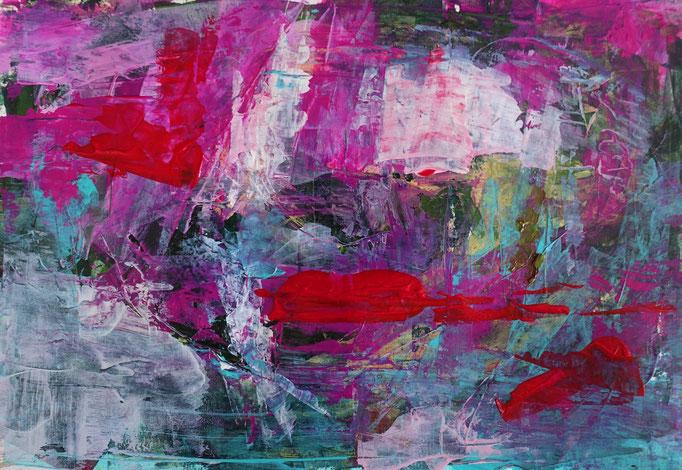 Johanna Schott // o.T. 2 // Acryl auf Papier // 21 x 29,7 cm // 2020