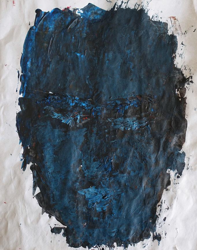 Johanna Schott // Gesicht 3 //Acryl auf Papier // 19 x 23,6 cm // 2020