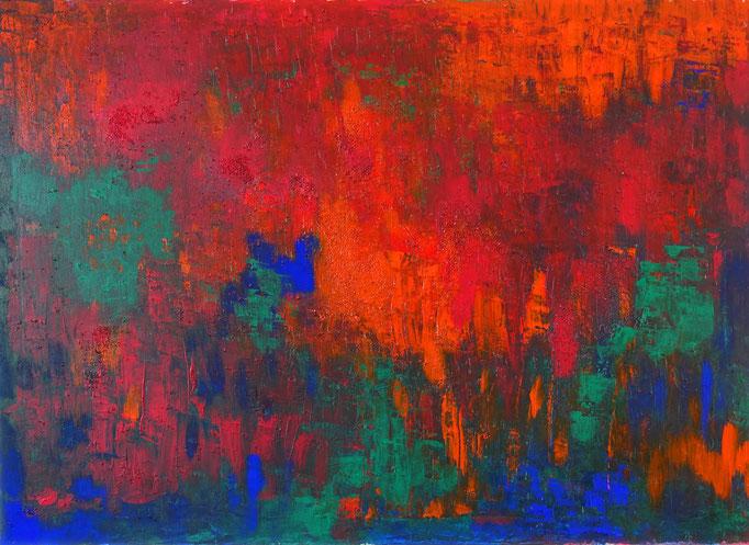 Johanna Schott // o.T. 15 // Acryl auf Leinwand // 65 x 90 cm // 2017