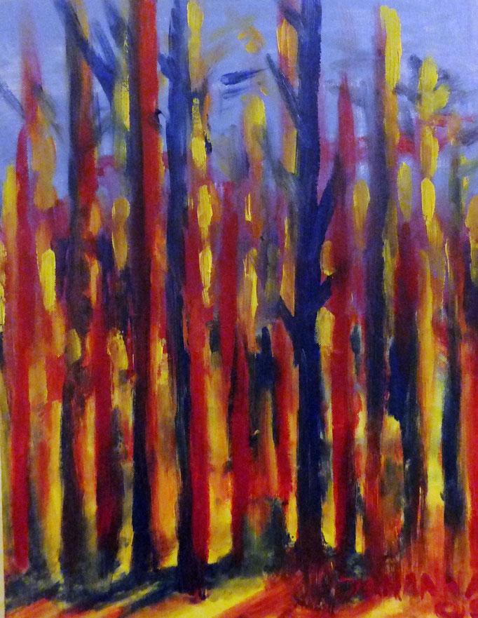 Johanna Schott // Baumstümpfe // Öl auf Leinwand // 30 x 40 cm // 2006