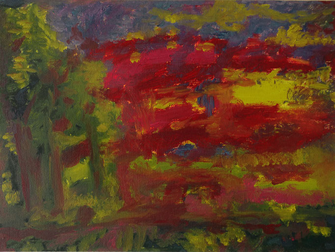 Johanna Schott // Landschaft // Öl auf Papier // 30 x 40 cm // 2003