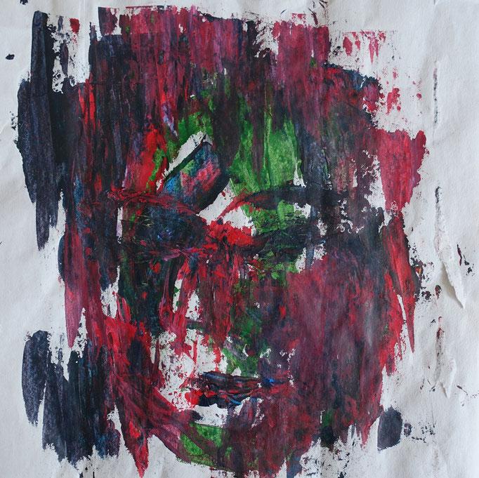 Johanna Schott // Gesicht 2 //Acryl auf Papier // 23,7 x 25 cm // 2020