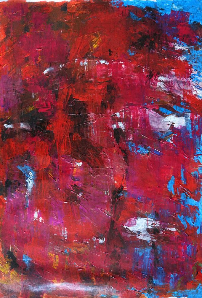 Johanna Schott // o.T. 7 // Acryl auf Papier // 54 x 74,6 cm // 2020