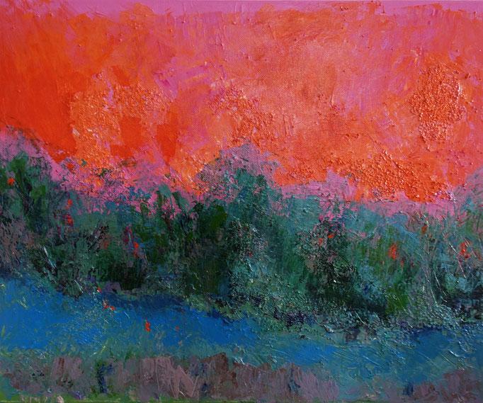 Johanna Schott // Tropischer Morgen // Acryl auf Leinwand // 40 x 50 cm // 2021