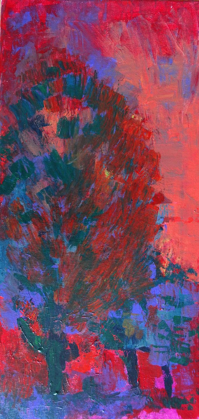 Johanna Schott // o. T. 9 // Acryl auf Leinwand // 30 x 60 cm // 2020