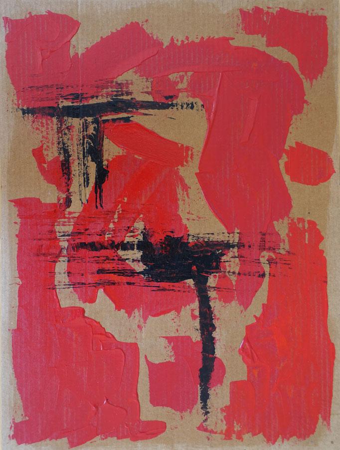 Johanna Schott // o. T. 17 // Acryl auf Pappe // 27,1 x 36,1 cm // 2016