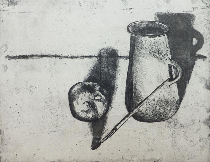 Johanna Schott // Stilleben // Radierung // 26,5 x 34,5 cm // 1983