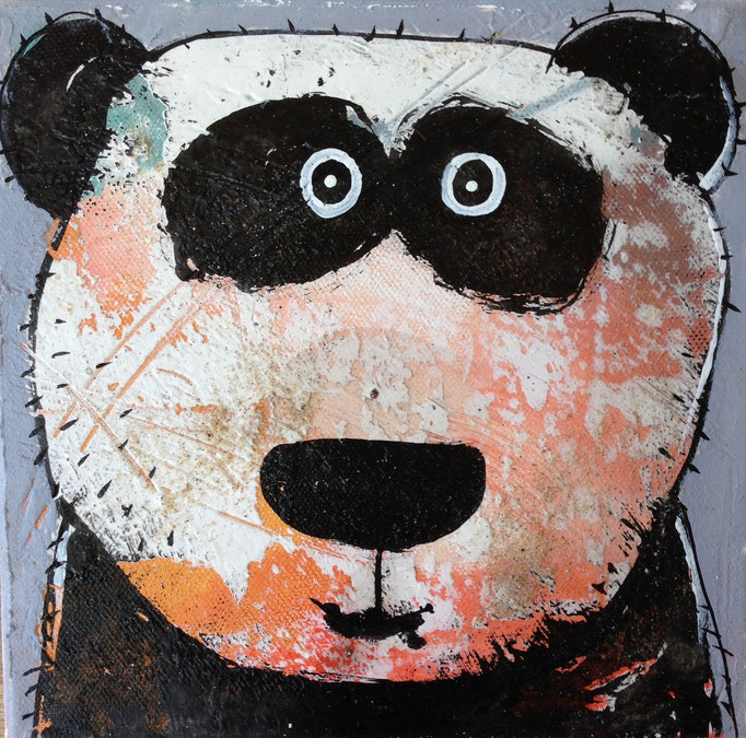 Be Bei            Mixed Media on linen         8''x8''