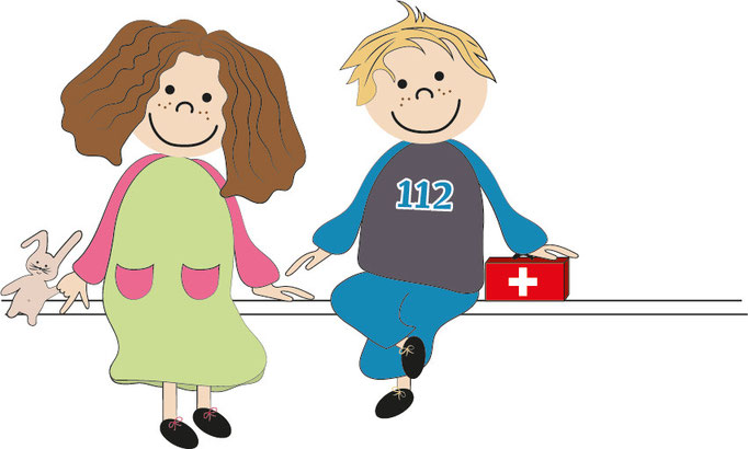 Illustration Kinder sitzend _ blickpunkte design _ moers
