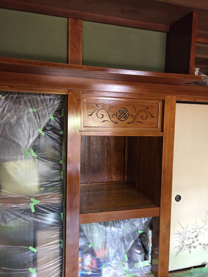 和室白木施工後3