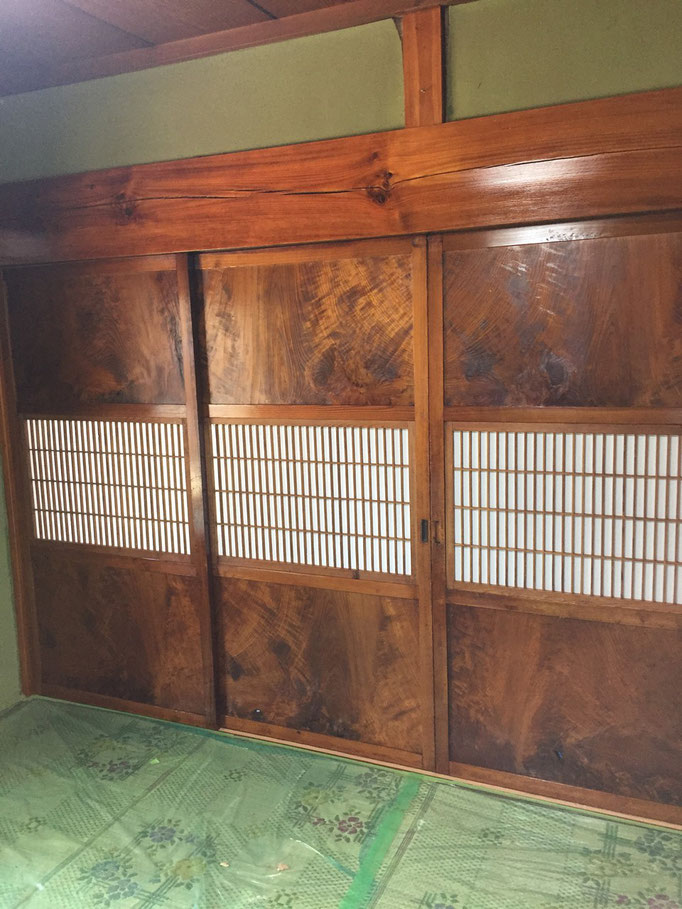 和室白木施工後1